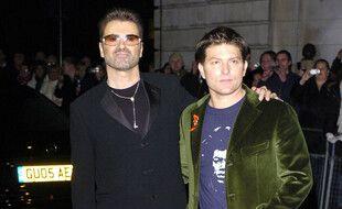 Le chanteur George Michael et son ancien compagnon Kenny Goss en 2005