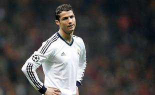 Cristiano Ronaldo lors du match entre Galatasaray et le Real Madrid le 9 avril 2013.