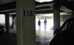 Le parking de Juvisy-sur-Orge où ont été tués Nathalie D. et Jean-Yves B., les deux premières victimes des meurtres en série dans l'Essonne.
