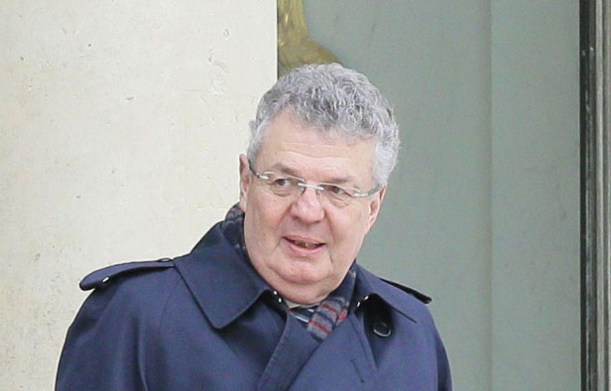 Paris, le 18 mars 2014. Le linguiste Bernard Cerquiglini est reçu à l'Elysée. – JACQUES DEMARTHON / AFP