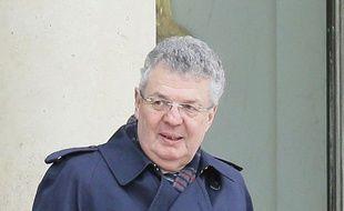 Paris, le 18 mars 2014. Le linguiste Bernard Cerquiglini est reçu à l'Elysée.