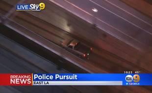 Un chauffeur fou a tenté de semer la police de Los Angeles en conduisant dans un tunnel du métro, le 20 février 2018.