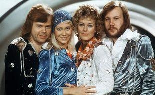 Le groupe ABBA à l'Eurovision 1974.