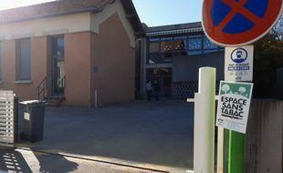 Un panneau annonçant l'interdiction de fumer, près d'une école, à Baillargues