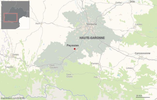 La commune de Peyssies dans le département de la Haute-Garonne.