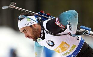 Martin Fourcade, au biathlon, le 2 décembre 2018 à Pokljuka en Slovénie.