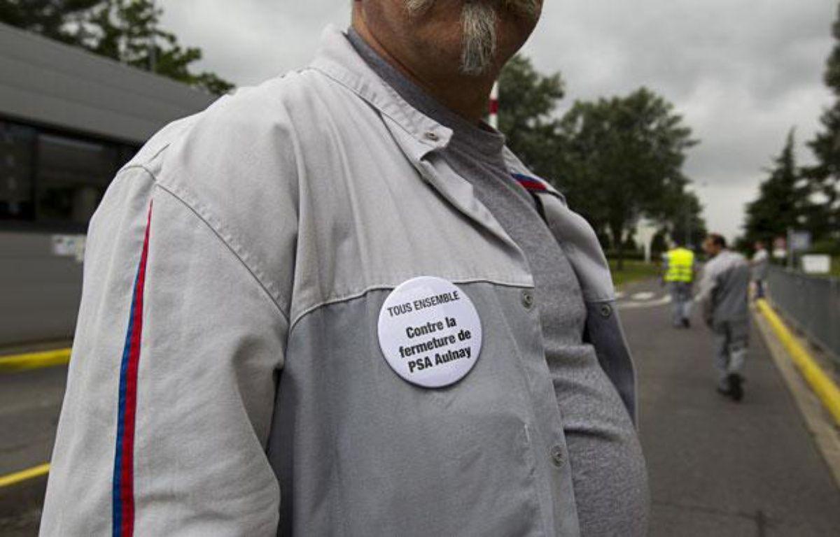Un salarié de l'usine PSAd'Aulnay le 12 juillet 2012 – V.Wartner/20 Minutes