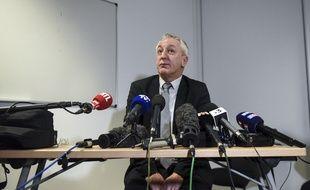 Le procureur d'Angers Eric Bouillard lors d'une conférence de presse le 9 février 2020, après la découverte du corps de la petite Vanille.