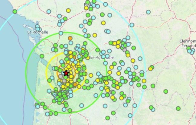 Les réactions au séisme ressenti ce mercredi en fin de matinée en Gironde.