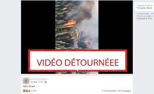 Cette vidéo ne montre pas les incendies qui touchent actuellement l'Amazonie.