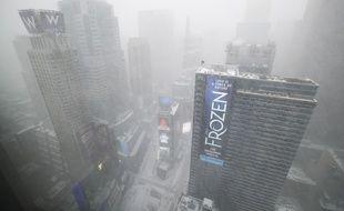 New York sous la tempête de neige, ce 4 janvier 2018.