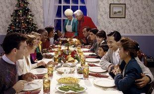 La joie (un chouïa simulée) lors d'un repas de Noël en famille