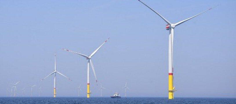 Des éoliennes du parce en mer d'Arkona, dans la mer baltique, en Allemagne.