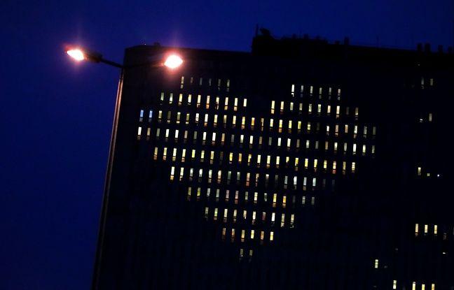 Saint-Valentin: Le CHU de Caen s'illumine d'un coeur pour rappeler l'attachement à l'hôpital public