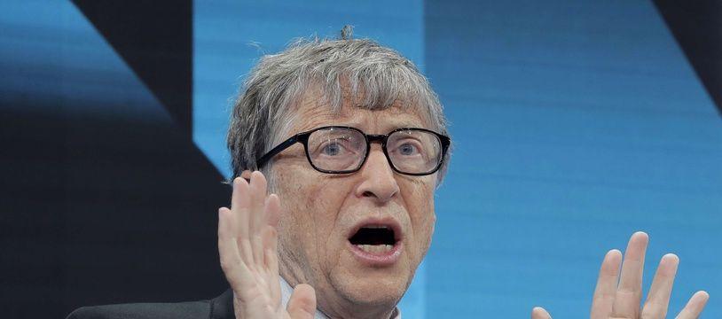 Bill Gates, à la tête de la fondation Bill & Melinda Gates, le 22 janvier 2019 au forum économique mondial de Davos (Suisse)