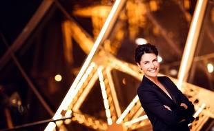 Alessandra Sublet sur le plateau de Une soir à la Tour Eiffel