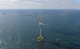 Des éoliennes en mer, en Allemagne. (illustration)