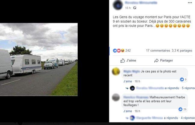 L'une des photos de caravanes sortie de son contexte.