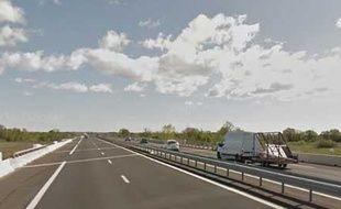 L'autoroute A75, dans l'Hérault.