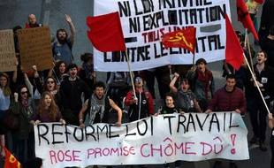 Manifestation contre la loi travail à Marseille, le 9 avril 2016.
