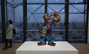 L'oeuvre de Jeff Koons est exposé au Centre Pompidou