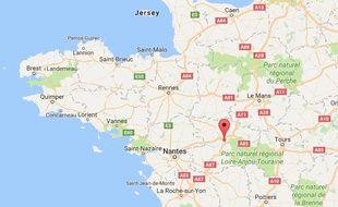 Localisation d'Angers (Maine-et-Loire)