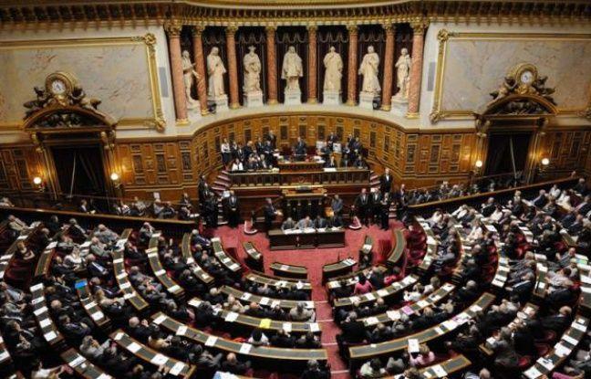 Vue générale de l'hémicycle du Sénat, le 1er octobre 2011.