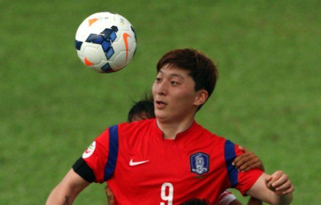 Park eun Son en action lors de la Coupe d'Asie en 2014.