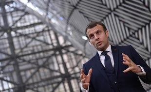 Emmanuel Macron à Bruxelles le 10 décembre 2020.