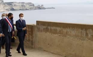 Emmanuel Macron est en Corse, ce jeudi 10 septembre, où il participe notamment à un sommet des pays du sud de l'Union européenne