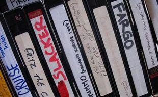 Des cassettes VHS.