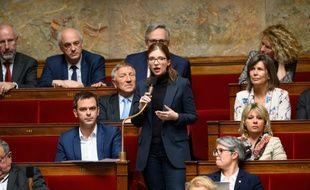 Aurore Bergé, députée et porte-parole LREM, à l'Assemblée nationale.