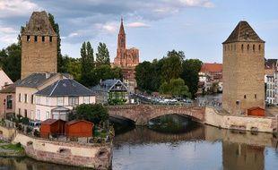 Illustration de la ville de Strasbourg, de la cathédrale, le 11 août 2014.