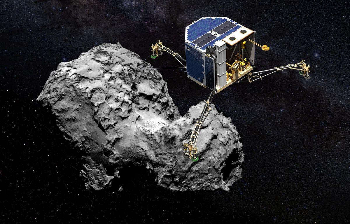 Philae en approche avant son atterrissage sur la comète. – © CNES/ESA/D.DUCROS/Rosetta/MPS for OSIRIS Team MPS/UPD/LAM/IAA/SSO/INTA/UPM/DAS