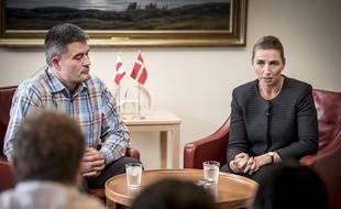 La première ministre danoise, Mette Frederiksen, et Kim Kielsen, le premier ministre du Groenland à Nuuk capitale du Groenland, le 19 août 2019.