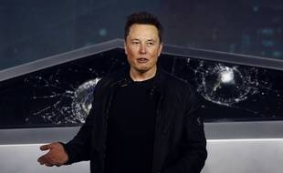 Elon Musk à Los Angeles, lors de la présentation de son « Cybetruck » en novembre
