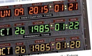Marty McFly arrive dans le futur le 21 octobre 2015.