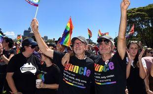 """Les Australiens ont résolument dit """"oui"""" au mariage gay lors d'un vote consultatif."""