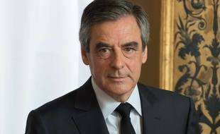 François Fillon, alors candidat de la droite à l'élection présidentielle, le 23 avril 2017 à Paris