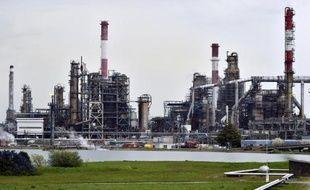 La raffinerie Total de Donges (ouest) le 16 avril 2015