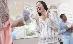 """""""Merci, c'est super moche"""". Illustration d'une baby shower typique aux Etats-Unis."""