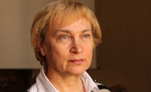 Natalia Manzurova, liquidatrice de Tchernobyl, le 13 avril 2016 à Paris.