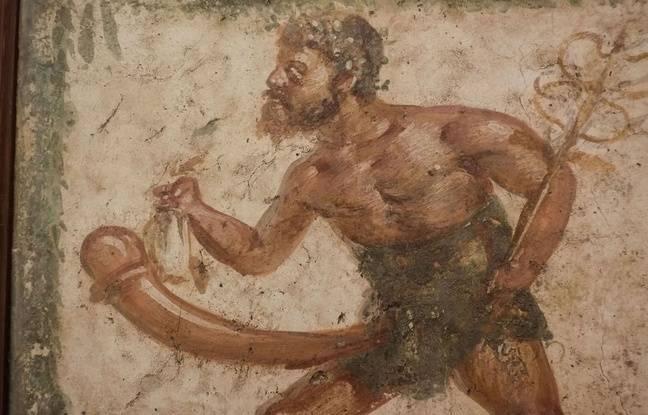 Une fresque dans une maison de Pompéi.