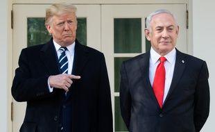 Donald Trump et Benjamin Netanyahou, le 27 janvier 2020 à la Maison blanche.
