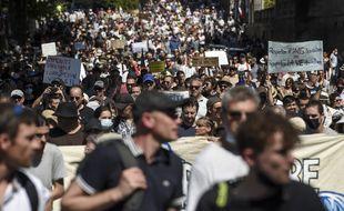 Manifestation contre le pass, le 14 août 2021.