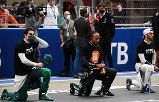 Le pilote britannique Lewis Hamilton (Mercedes-AMG Petronas) lors du Grand Prix de Russie à Sotchi, le 26 septembre 2021.