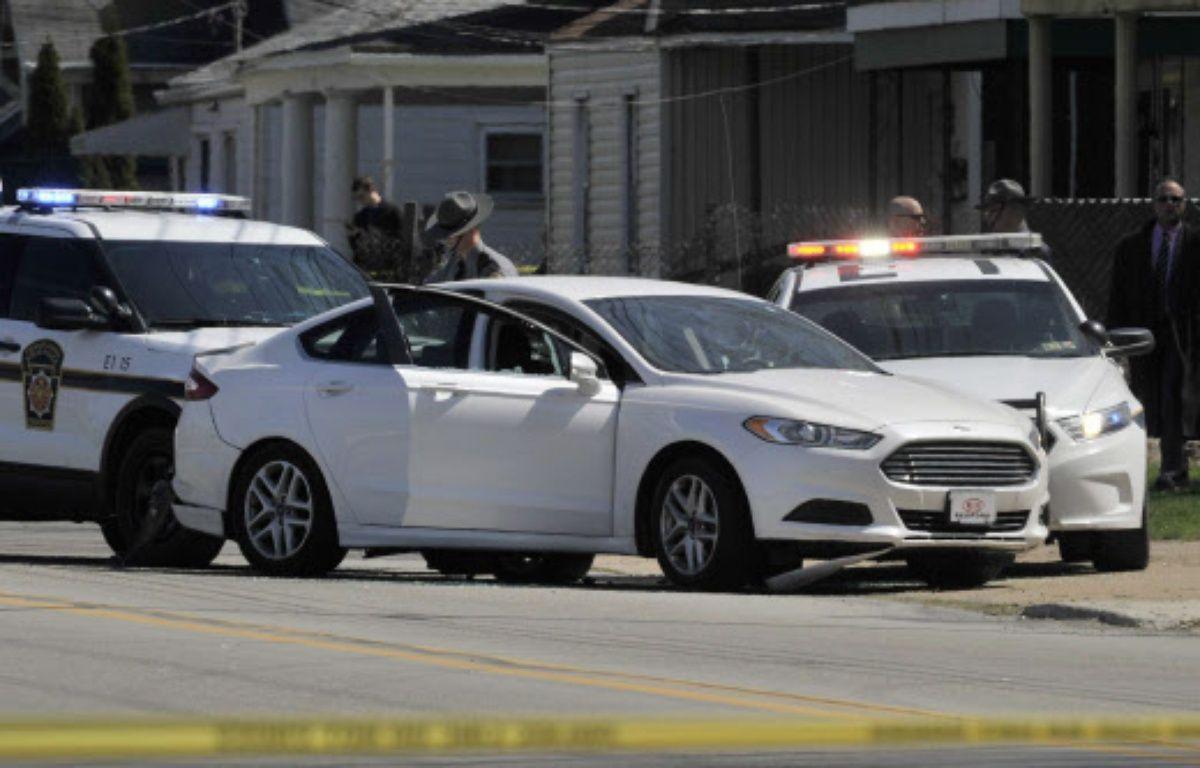 Le véhicule de Steve Stephens, qui s'est suicidé après avoir été pris en chasse par les autorités – Greg Wohlford/AP/SIPA
