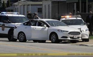 Le véhicule de Steve Stephens, qui s'est suicidé après avoir été pris en chasse par les autorités