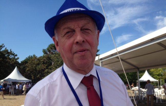 Jean-Pierre Coulon, premier adjoint à Maubeuge, au rassemblement d'Alain Juppé à Chatou (Yvelines) le 27 août 2016.