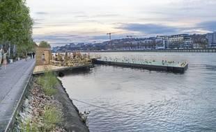 David Kimelfeld, président sortant de la métropole de Lyon et candidat à sa propre succession, envisage de réaliser plusieurs espaces flottants